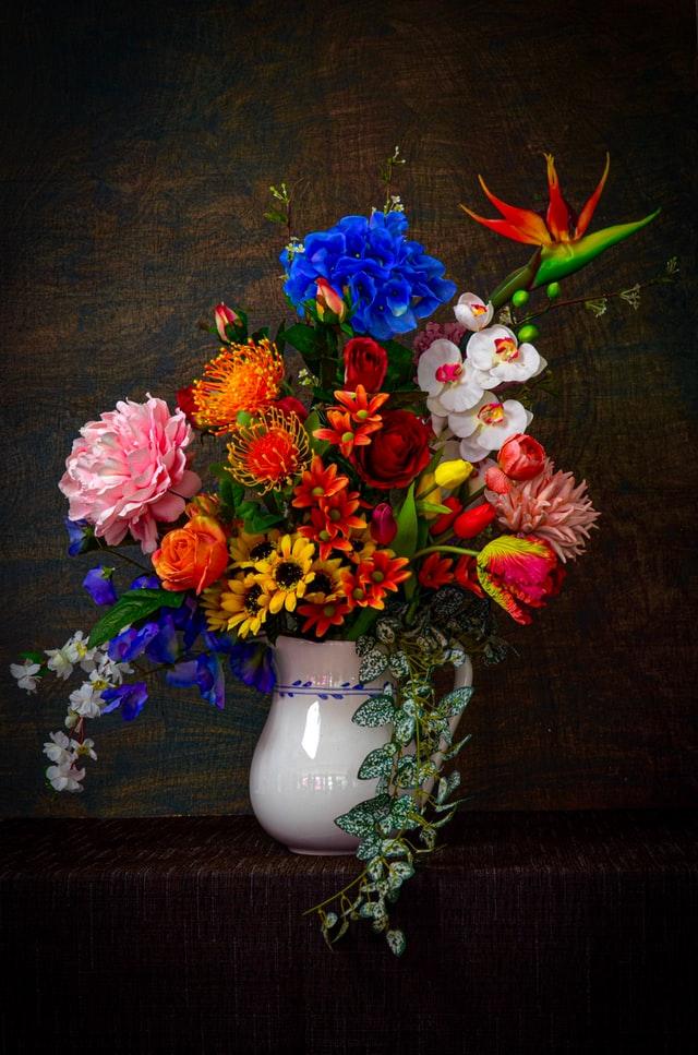 flower art vintage flower plastic paper and tissue