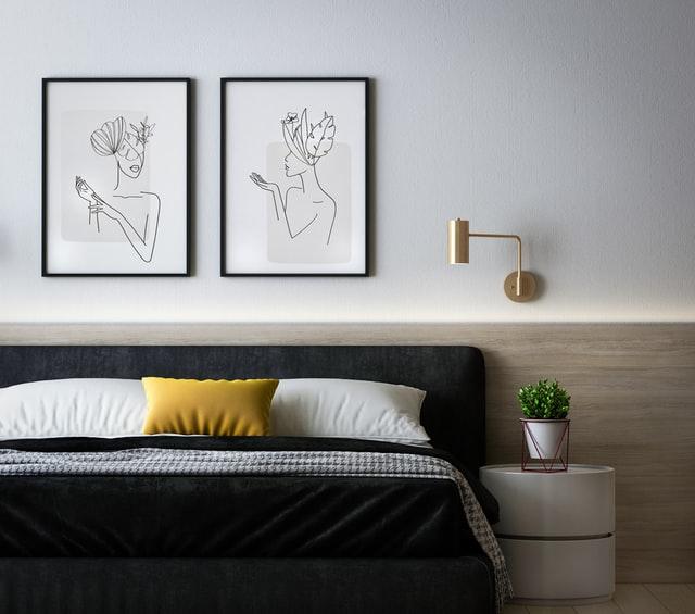 gold lamp accessories bedroom design