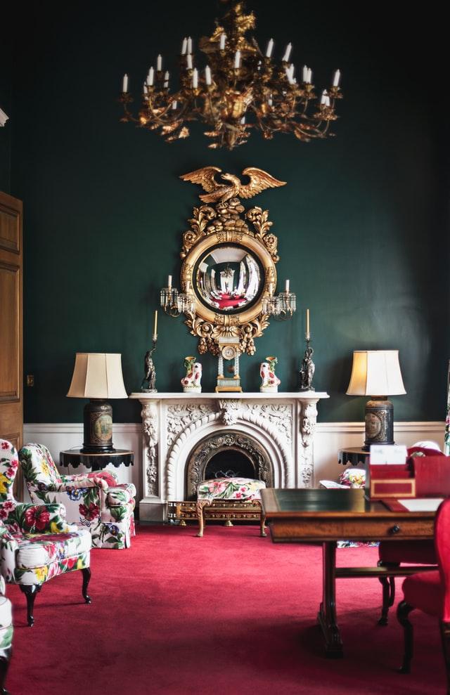 gold vintage living room ideas