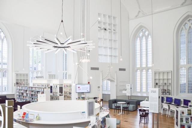 gothic room with white accents