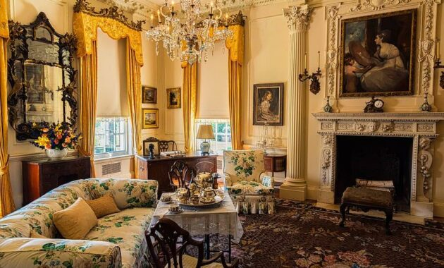 historical early 1900 s living room estate