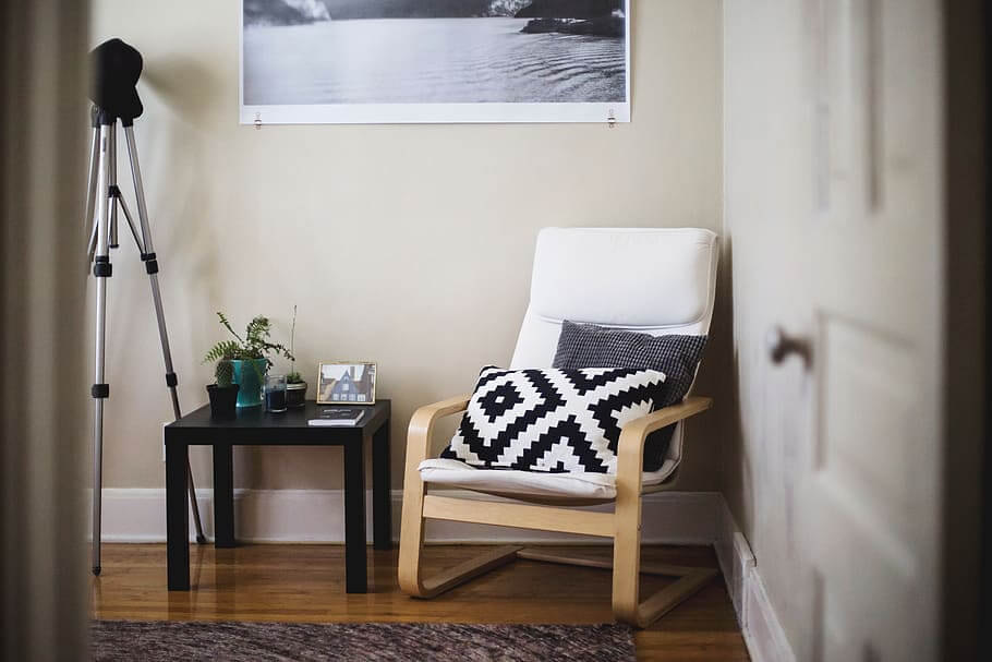 house interior living room chair pillow
