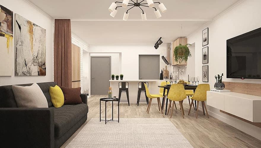 kitchen living room modern living room studio interior design 3d lounge kitchen design interior