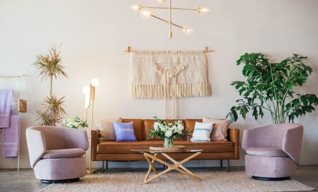 living room decoration with lamp ideas