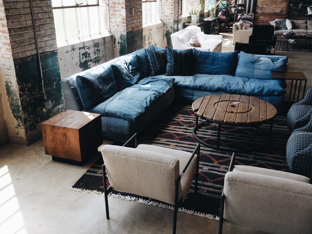 living room ideas with dark blue color