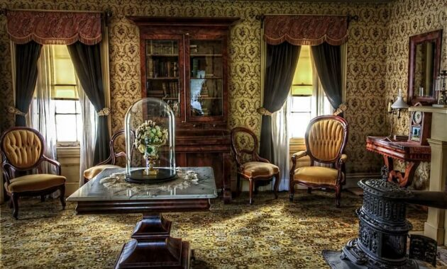 living room victorian historic vintage