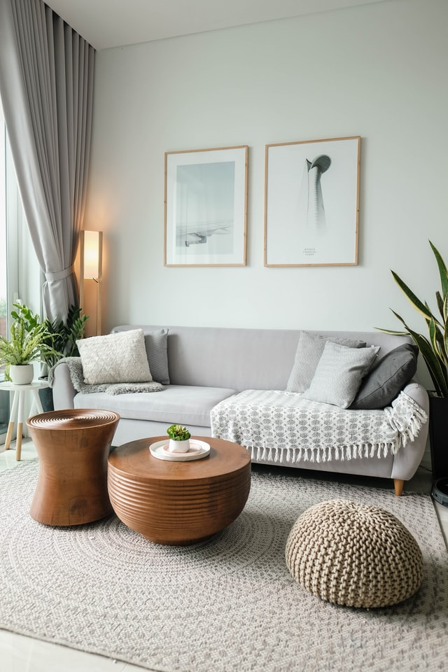 minimalist living room with wall sconces ideas
