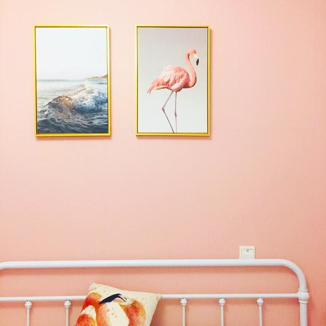 nature inspiration gold frame wall decor