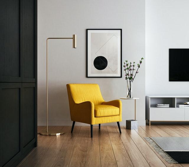 shiny gold chair home decor ideas