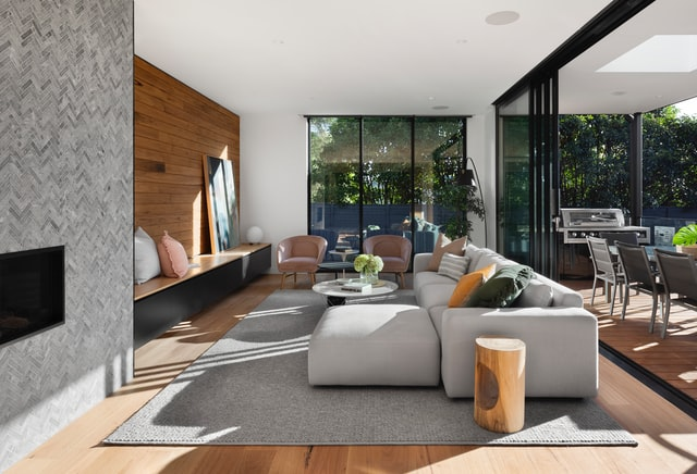 Black accent for modern living room ideas