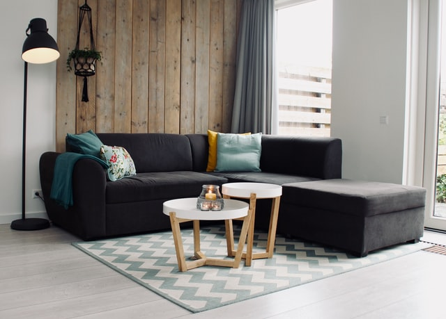 Black and Brown Living room furniture combination