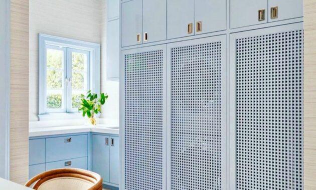 Blue Design Grasscloth wallpaper ideas for living room