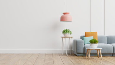 Japanese minimalist style with wooden flooring