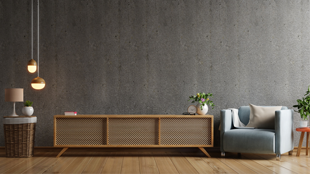 Japanese simple low table and sofa with creative wooden materials
