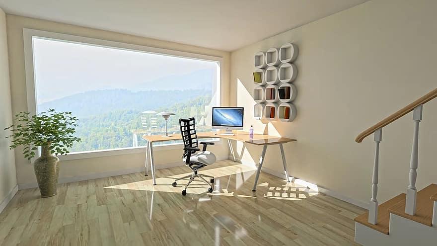 architecture interior room modern home furniture design table floor