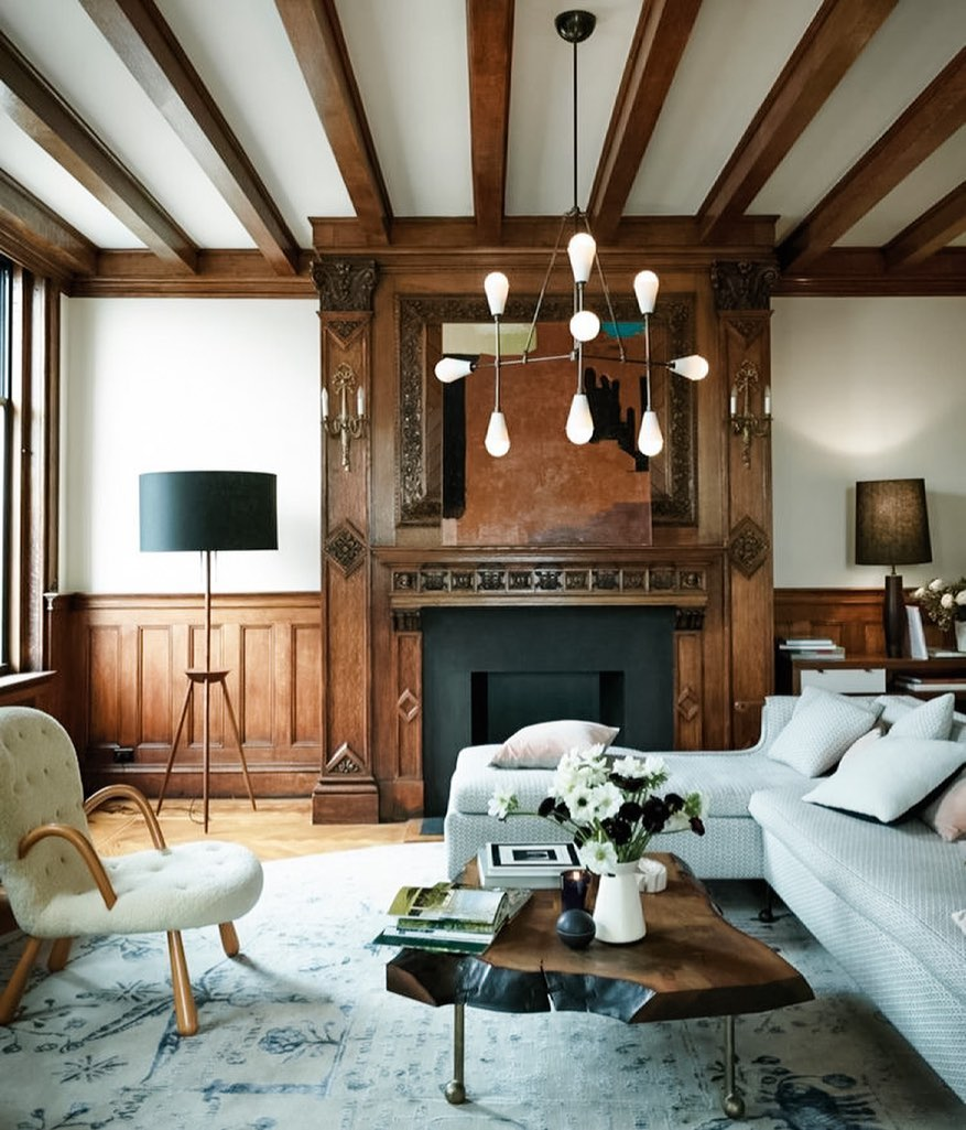 aspen wood living room decor