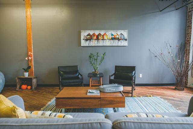 blanket box living room design wood materials