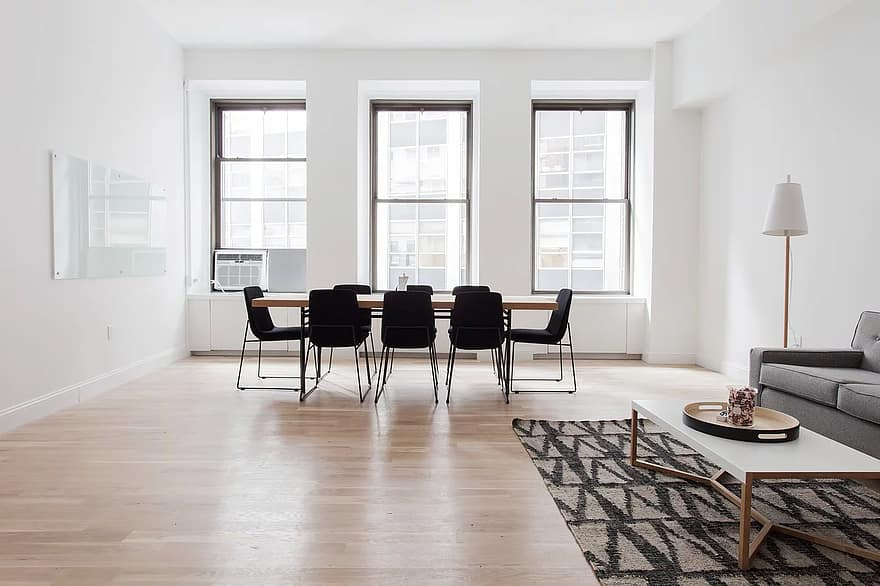 chairs floor furniture indoors interior design lamp parquet room tables