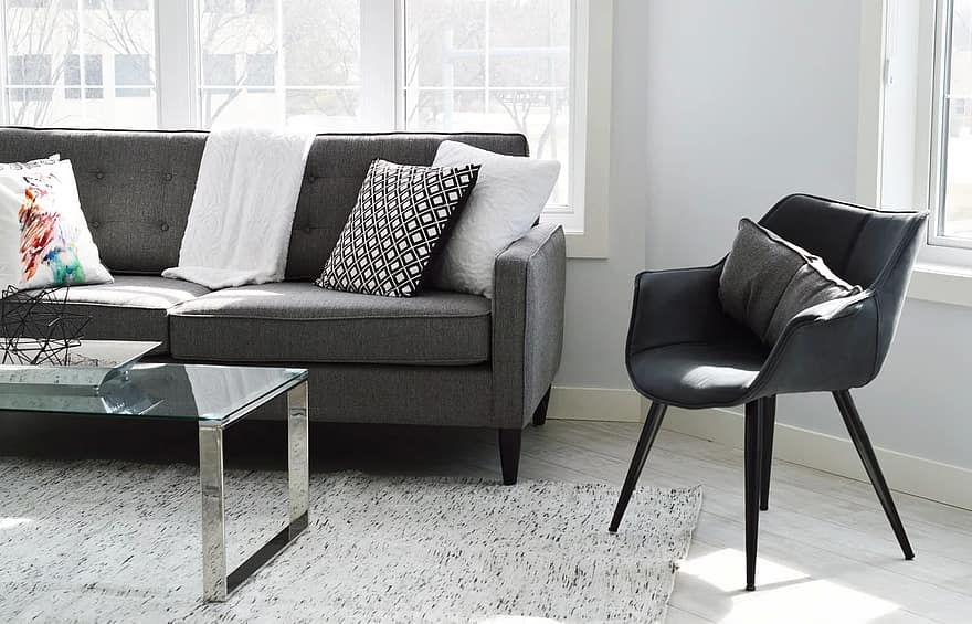 living room chair sofa couch home condo living room interior furniture modern