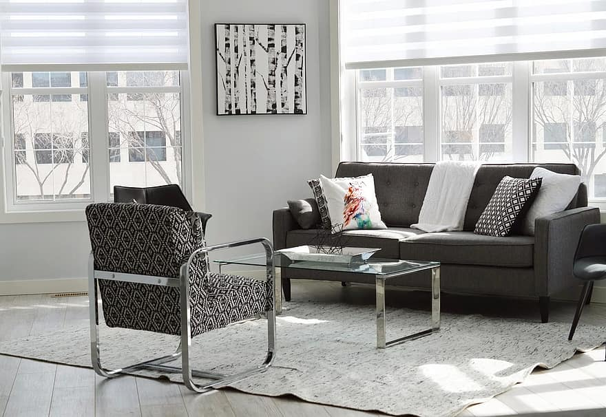 living room condo house apartment home interior room modern couch