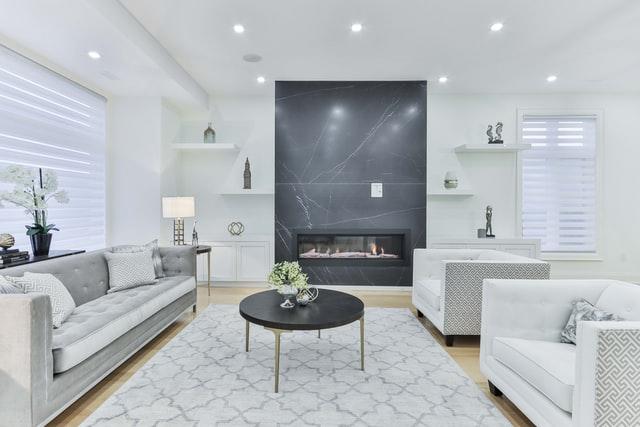 monochrome elegant living room ideas