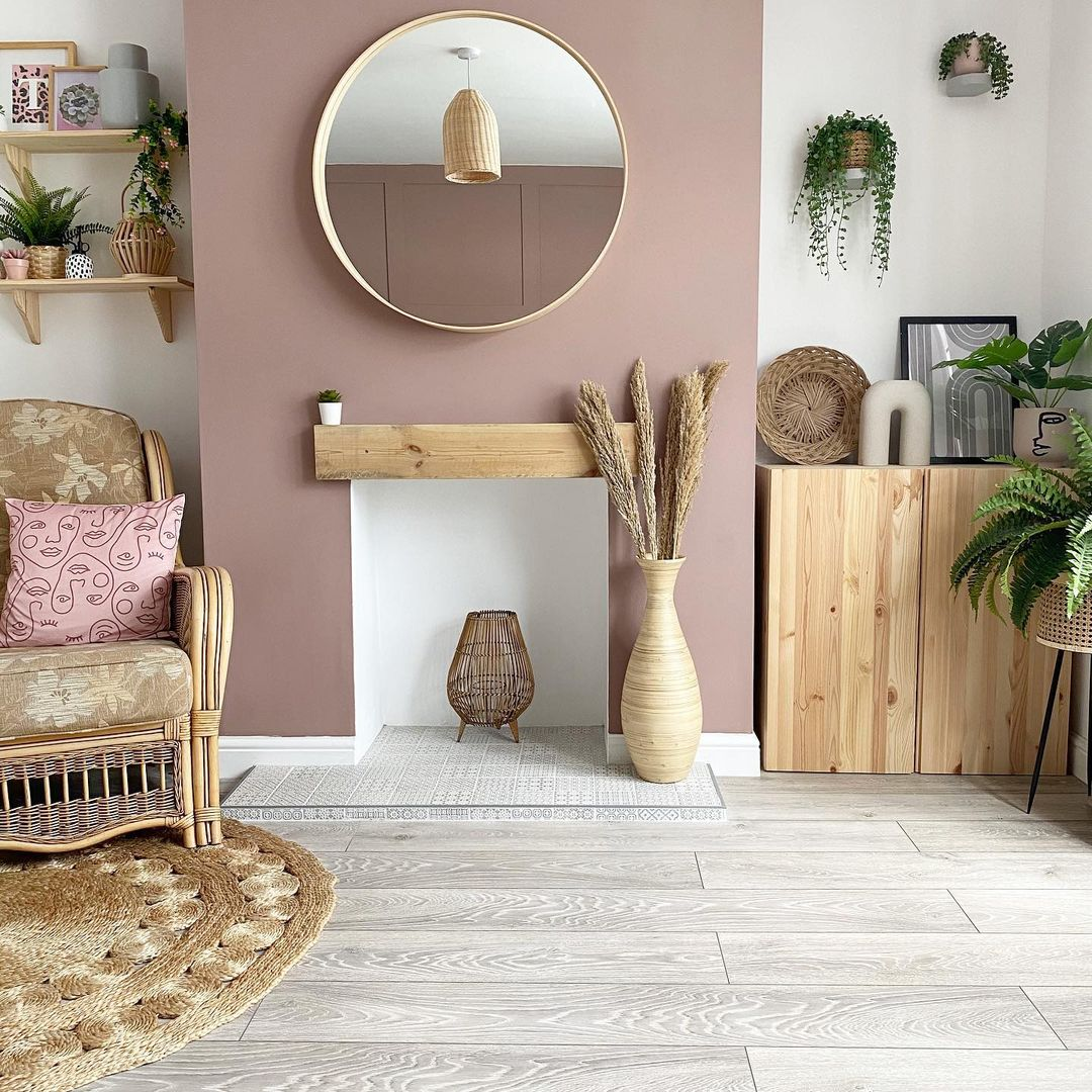 pinky furniture with wooden accessories ideas