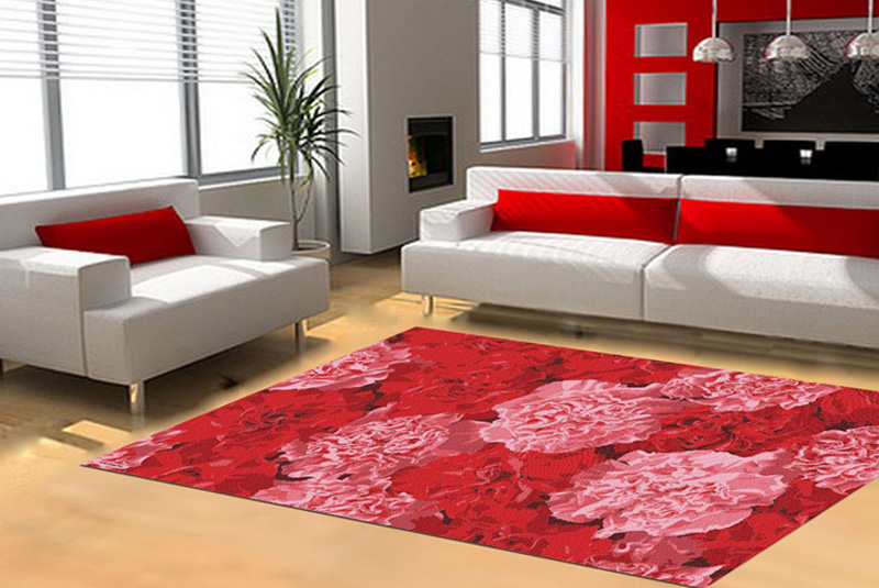 red rugs beautiful living room accent