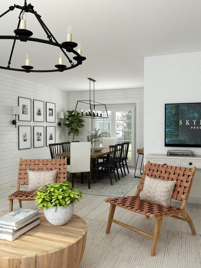 rustic living room decor