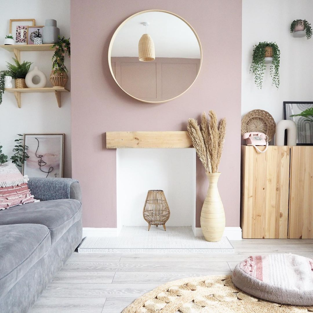 white wall and living room furniture