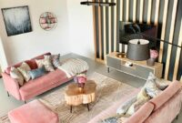 white wall and pink sofas wooden ideas
