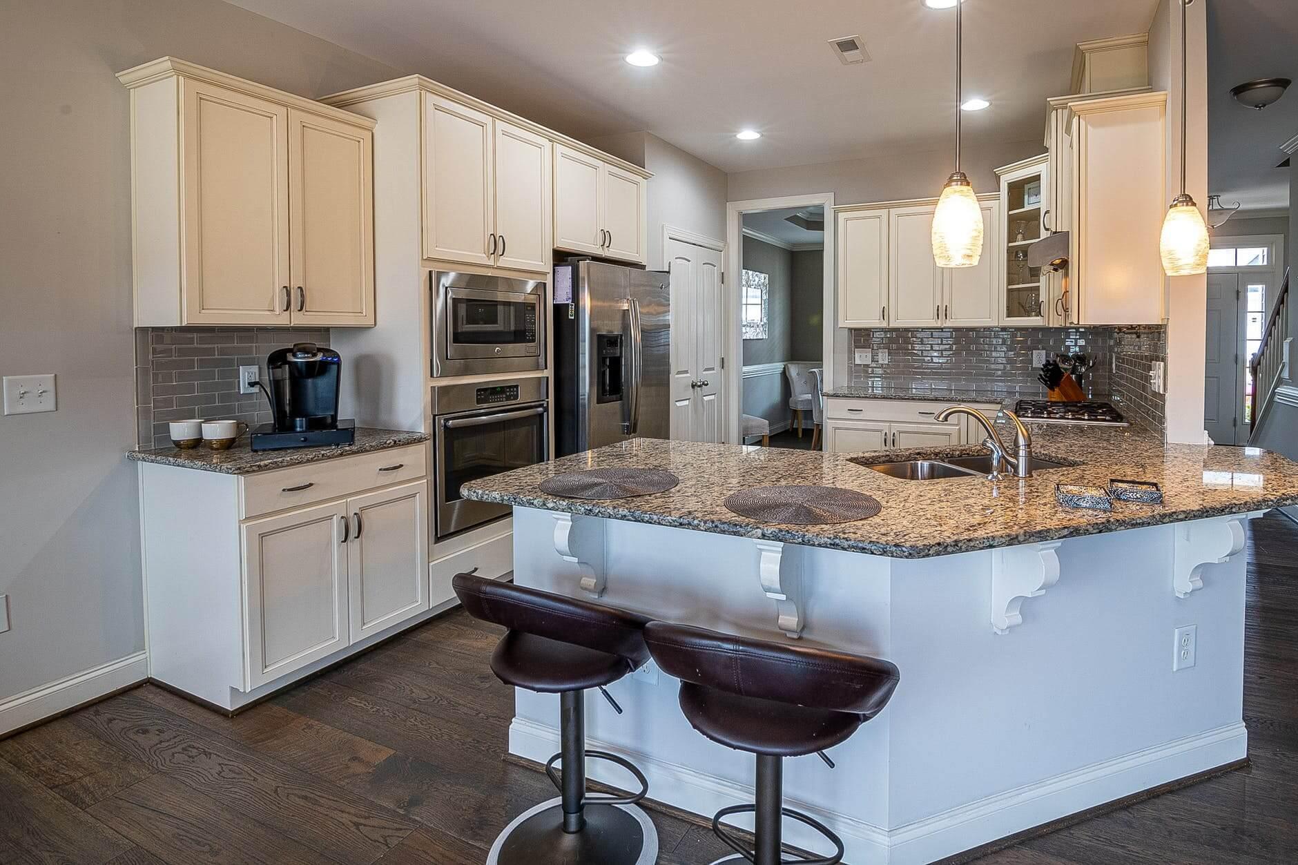 dark kitchen flooring