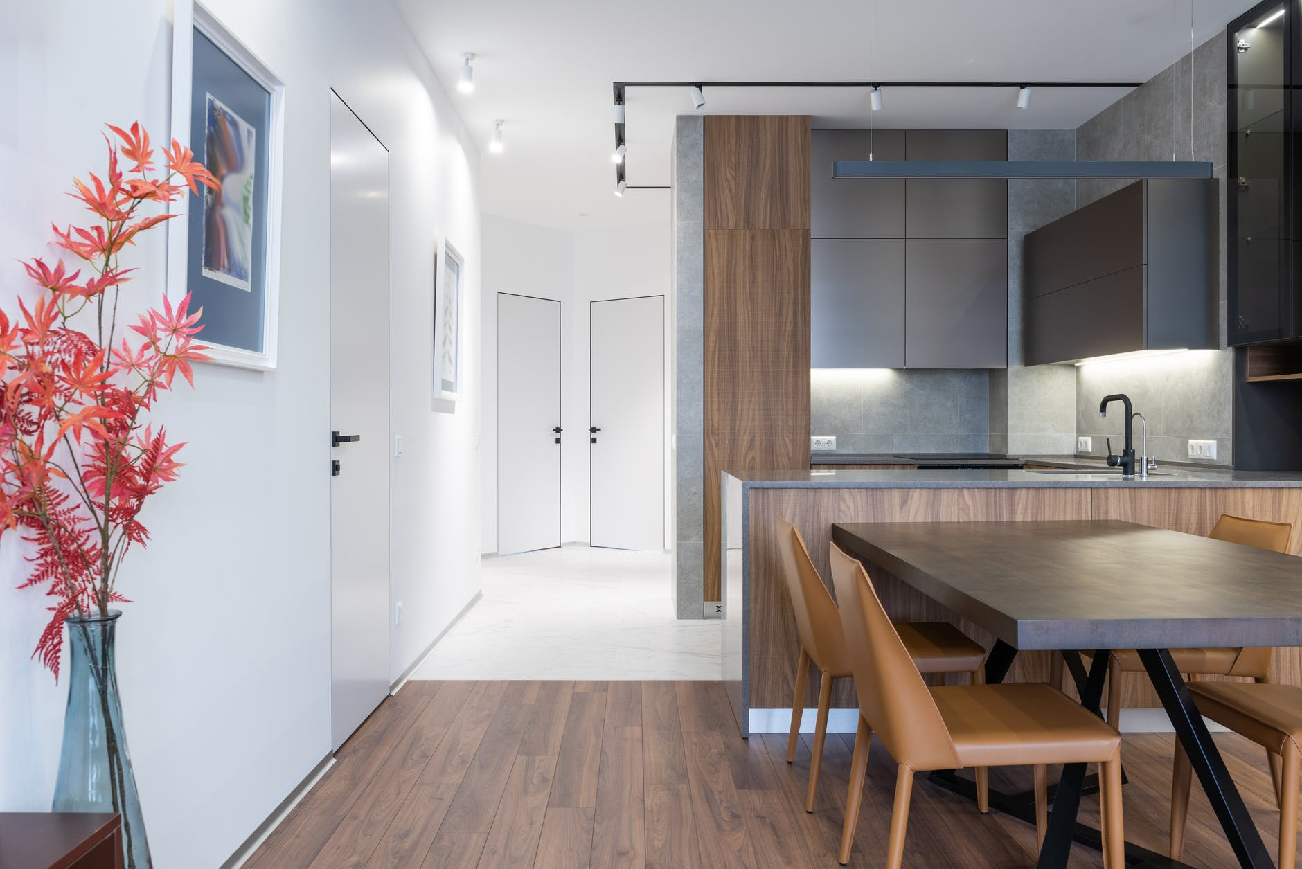 grey kitchen flooring