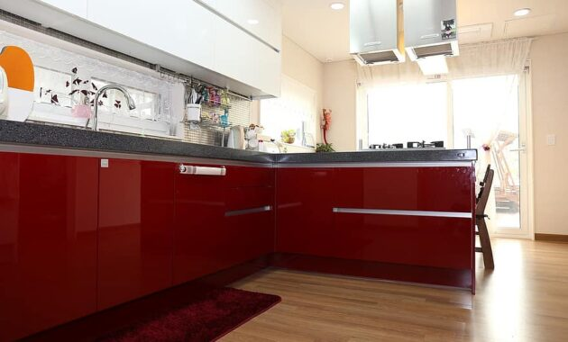 homes for sale kitchen interior red