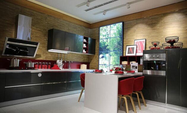 indoor sample room kitchen