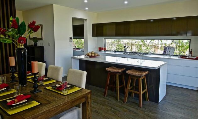 kitchen design interior counter residential modern architecture house home