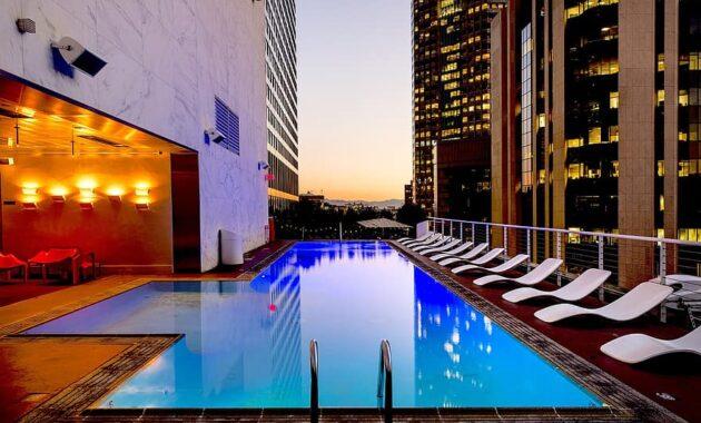 los angeles california usa america city pool swimming pool hotel standard hotel