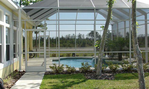 screen room winter garden sunroom porch patio room house pool swimming pool