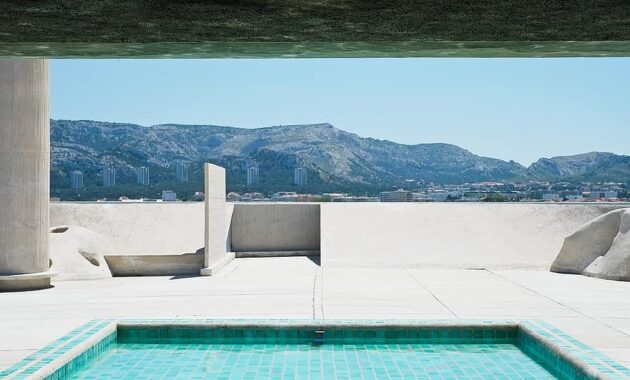 swimming pool architecture corbusier pool building design habitation house france