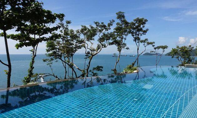 swimming pool ocean modern design luxury relaxation leisure landscape