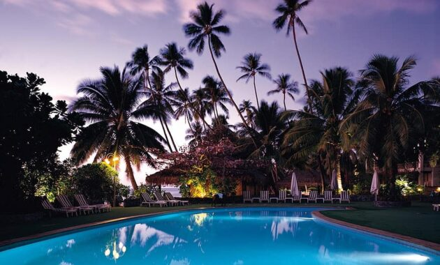 swimming pool palm trees resort tropical vacation holiday leisure relaxation paradise