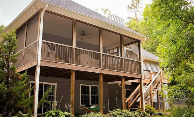 back porch rear porch back patio rear patio deck backyard rear elevation house home