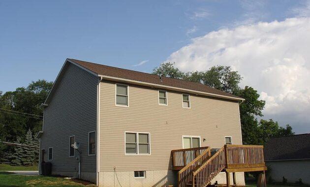 house yard deck estate home dwelling modern house exterior neighborhood houses housing