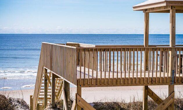 ocean beach beachfront beach house sand water sea north carolina deck