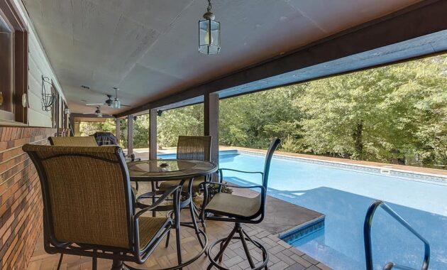 pool backyard home outdoor seating summer deck