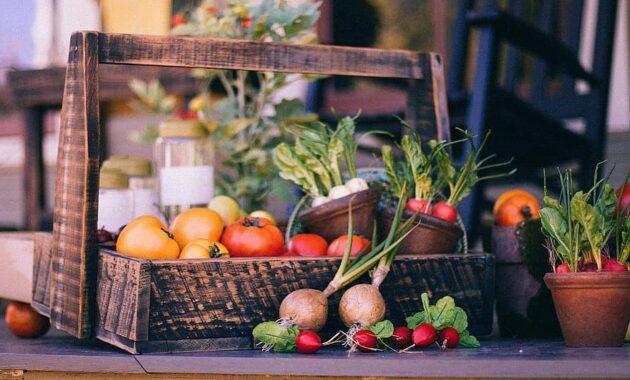 vegetable basket fruit basket harvest thanksgiving basket garden vegetables rustic radish