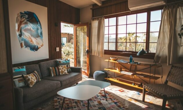 artistic living room and wall art