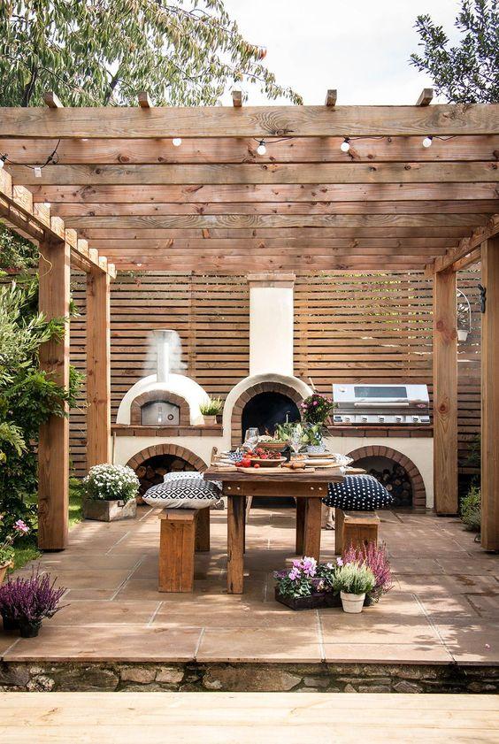 creative outdoor kitchen