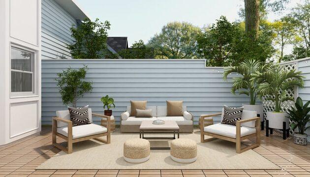 elegant modern backyard patio