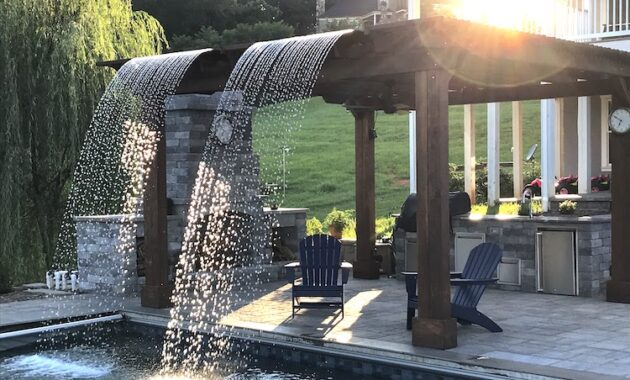 modern backyard pergola