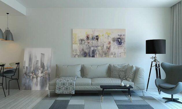 tile floor and wall art